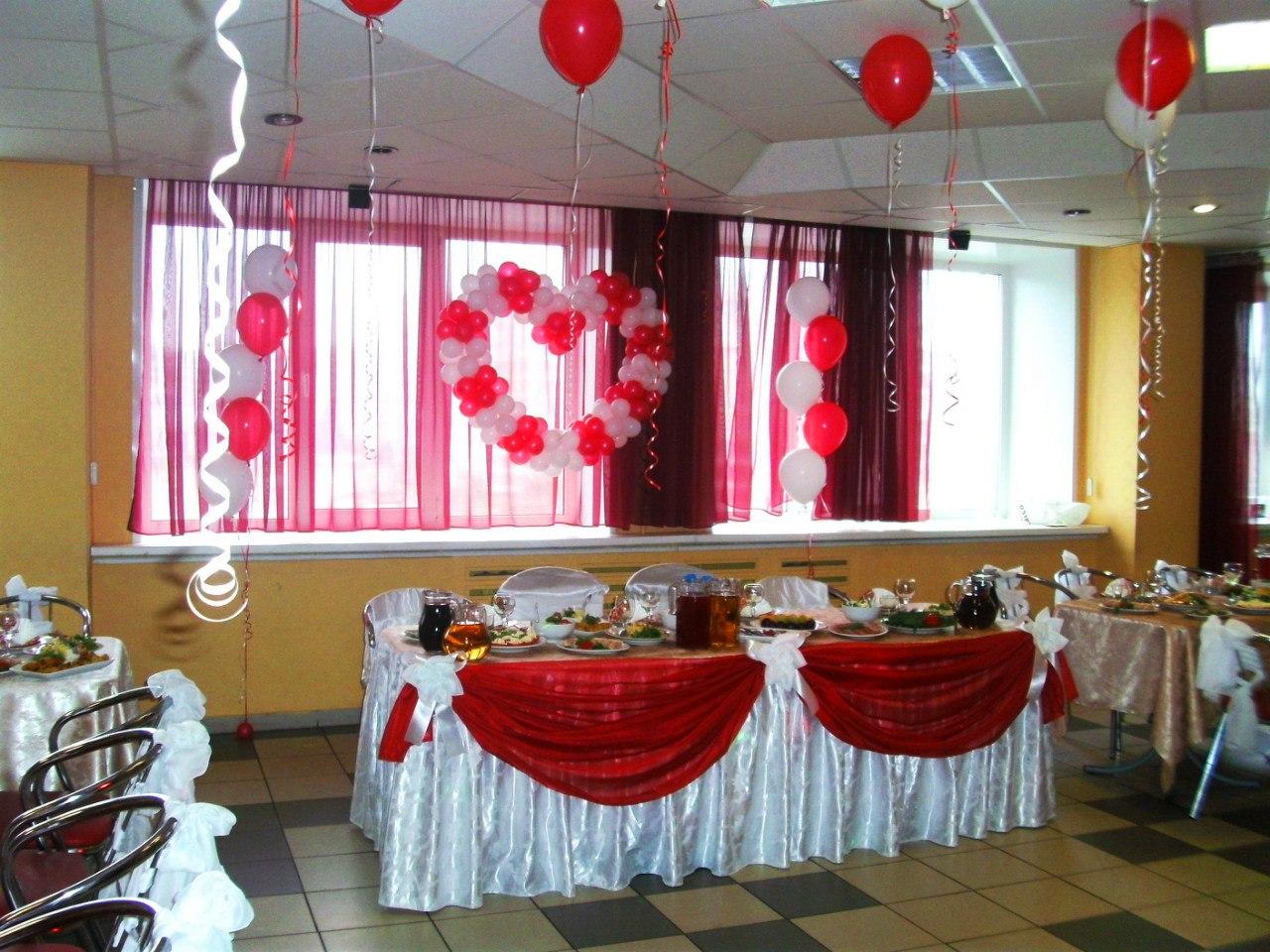 Украшение зала для свадьбы в фото