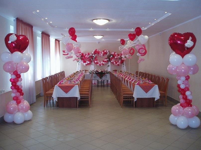 Как украсить зал на свадьбу своими руками фото пошагово