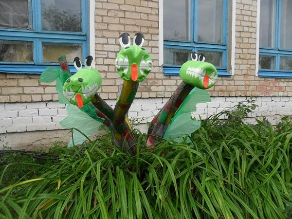 Поделки на улицу для детского сада из