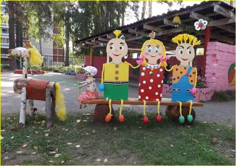 Фото украшения участка в детском саду своими руками летом